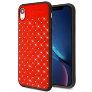 Luxury Crystal Rhinestone Case for iPhone XR - Red