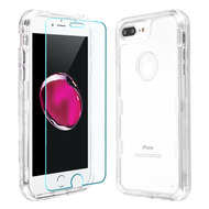 Military Grade Certified TUFF Lucid Plus Case + Tempered Glass for iPhone 8 Plus / 7 Plus / 6S Plus / 6 Plus - Clear