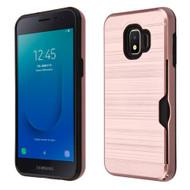 ID Card Slot Hybrid Case for Samsung Galaxy J2 - Rose Gold