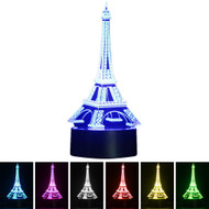 Creative 3D Visualization LED Night Lamp - Eiffel Tower