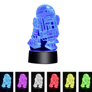Creative 3D Visualization LED Night Lamp - Robot