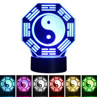 Creative 3D Visualization LED Night Lamp - Taiji Bagua