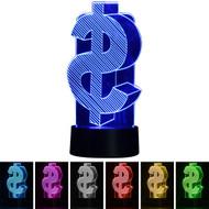 Creative 3D Visualization LED Night Lamp - Dollar