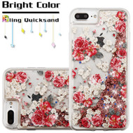 Quicksand Glitter Transparent Case for iPhone 8 Plus / 7 Plus / 6S Plus / 6 Plus - European Rose
