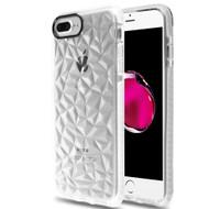 3D Polygon Transparent TPU Case for iPhone 8 Plus / 7 Plus / 6S Plus / 6 Plus - White