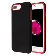 Fuse Slim Armor Hybrid Case for iPhone 8 Plus / 7 Plus / 6S Plus / 6 Plus - Black Red