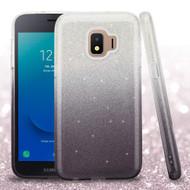 Full Glitter Hybrid Protective Case for Samsung Galaxy J2 - Gradient Black