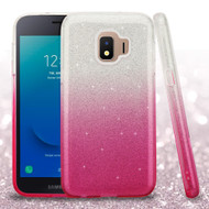 Full Glitter Hybrid Protective Case for Samsung Galaxy J2 - Gradient Pink