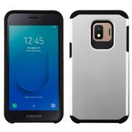 Hybrid Multi-Layer Armor Case for Samsung Galaxy J2 - Silver
