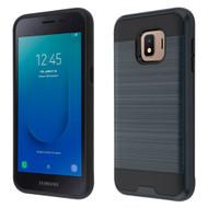Brushed Coated Hybrid Armor Case for Samsung Galaxy J2 - Ink Blue