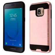 Brushed Coated Hybrid Armor Case for Samsung Galaxy J2 - Rose Gold