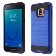 Brushed Coated Hybrid Armor Case for Samsung Galaxy J2 - Blue