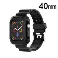 Rugged Sport Case with Strap Band for Apple Watch 40mm Series 4 - Black