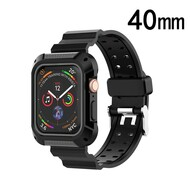 Rugged Sport Case with Strap Band for Apple Watch 40mm Series 4 - Black Grey