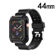 Rugged Sport Case with Strap Band for Apple Watch 44mm Series 4 - Black Grey