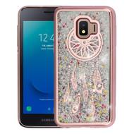 Electroplating Quicksand Glitter Transparent Case for Samsung Galaxy J2 - Dreamcatcher Rose Gold