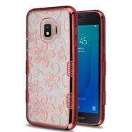 Tuff Lite Quicksand Electroplating Case for Samsung Galaxy J2 - Hibiscus Flower