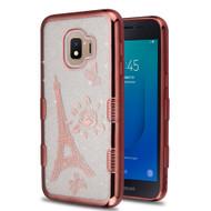 Tuff Lite Quicksand Electroplating Case for Samsung Galaxy J2 - Eiffel Tower