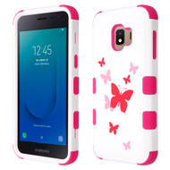 Military Grade Certified TUFF Hybrid Armor Case for Samsung Galaxy J2 - Butterfly Dancing