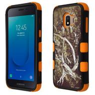 Military Grade Certified TUFF Hybrid Armor Case for Samsung Galaxy J2 - Tree Camouflage Orange 023