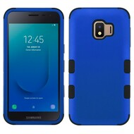 Military Grade Certified TUFF Hybrid Armor Case for Samsung Galaxy J2 - Blue 005