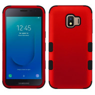 Military Grade Certified TUFF Hybrid Armor Case for Samsung Galaxy J2 - Red 006