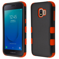 Military Grade Certified TUFF Hybrid Armor Case for Samsung Galaxy J2 - Black Red