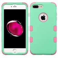 Military Grade Certified TUFF Hybrid Armor Case for iPhone 8 Plus / 7 Plus - Mint Soft Pink