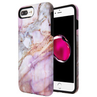 Fuse Slim Armor Hybrid Case for iPhone 8 Plus / 7 Plus / 6S Plus / 6 Plus - Marble Purple