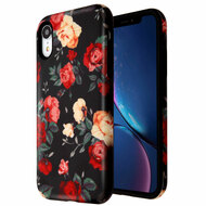 Fuse Slim Armor Hybrid Case for iPhone XR - Red and White Roses