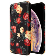 Fuse Slim Armor Hybrid Case for iPhone XS Max - Red and White Roses