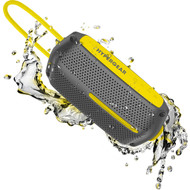 HyperGear Wave Water Resistant Bluetooth V4.2 Wireless Speaker - Grey Yellow