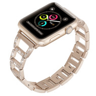 Chic Design Diamond Chain Stainless Steel Watch Band for Apple Watch 40mm / 38mm - Retro Gold