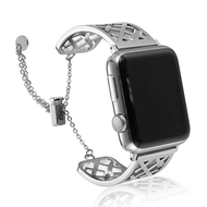 Open Cuff Bangle Stainless Steel Watch Band for Apple Watch 44mm / 42mm - Silver
