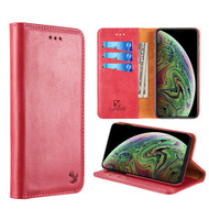 2-IN-1 Luxury Magnetic Leather Wallet Case for iPhone XR - Red