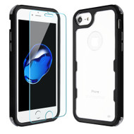 Military Grade Certified TUFF Lucid Plus Case with Tempered Glass Screen Protector for iPhone 8 / 7 / 6S / 6 - Black