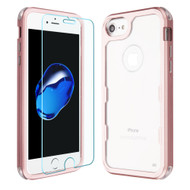 Military Grade Certified TUFF Lucid Plus Case with Tempered Glass Screen Protector for iPhone 8 / 7 / 6S / 6 - Rose Gold