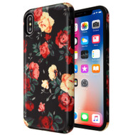 Fuse Slim Armor Hybrid Case for iPhone XS / X - Red and White Roses
