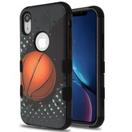 Military Grade Certified TUFF Hybrid Armor Case for iPhone XR - Slam Dunk