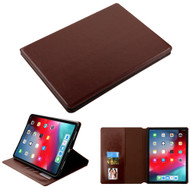 Book-Style Leather Folio Case for iPad Pro 11 inch - Brown