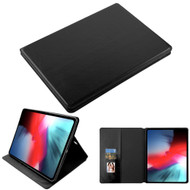 Book-Style Leather Folio Case for iPad Pro 12.9 inch (3rd Generation) - Black