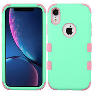 Military Grade Certified TUFF Hybrid Armor Case for iPhone XR - Mint Soft Pink