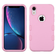Military Grade Certified TUFF Hybrid Armor Case for iPhone XR - Soft Pink
