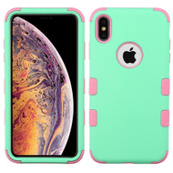 Military Grade Certified TUFF Hybrid Armor Case for iPhone XS Max - Mint Soft Pink