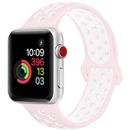 Soft Breathable Sport Band Strap for Apple Watch 40mm / 38mm - Pearl Pink White