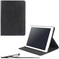 Luxurious Leather Book-Style Smart Folio Case for iPad (2018/2017) / iPad Pro 9.7 / iPad Air 2 - Black
