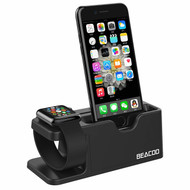 *FINAL SALE* 2-IN-1 Docking Stand for Apple Watch and Smartphones - Black