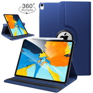 360 Degree Smart Rotating Leather Case for iPad Pro 11 inch - Navy Blue