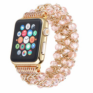 *SALE* Glamorous Chic Style Bracelet Faux Crystal Watch Band for Apple Watch 44mm / 42mm - Pink