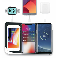 Triple Coils Multi Qi Wireless Charging Pad + 3 USB Charger Port - Black